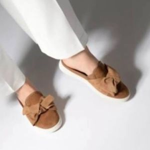 UGG Luci Bow Brown Mules Slip On Sneakers size 11